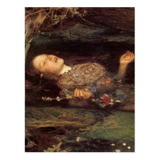 Fine art Ophelia painting Postcard