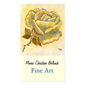 Fine Art Painting for Artist Rose Flower Pack Of Standard Business Cards