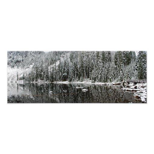 Fine Art Panorama Print Lake 22 in Winter Photograph