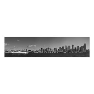 Fine Art Panorama Print Seattle from Puget Sound Art Photo