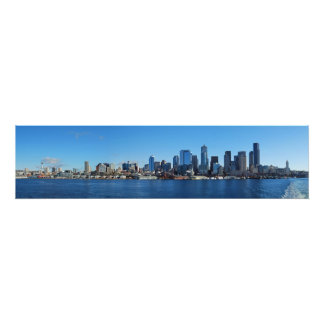 Fine Art Panorama Print Seattle from Puget Sound Photograph