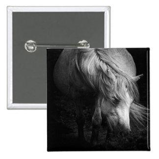 Fine Art Pony Head and Mane button / badge