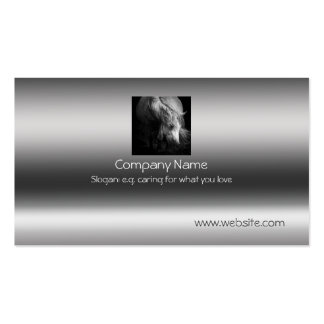 Fine Art Pony Head and Mane on metallic-effect Pack Of Standard Business Cards