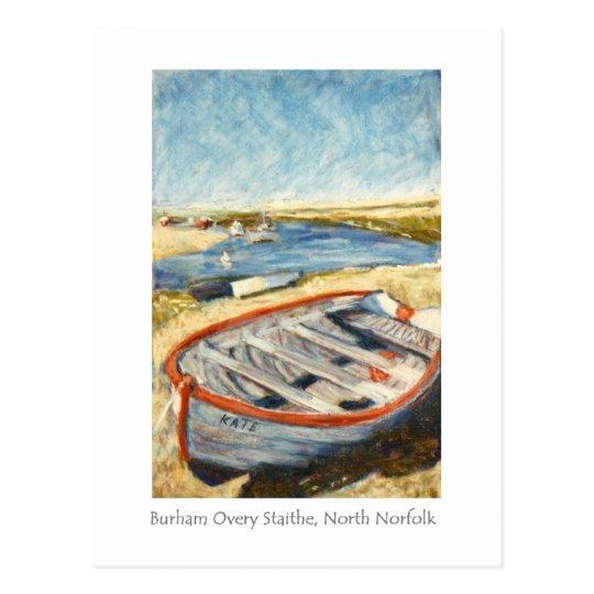 Fine Art Postcard - Burnham Overy Staithe, Norfolk