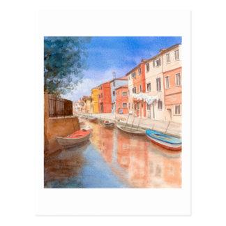 Fine Art Postcard- Island of Burano Postcard