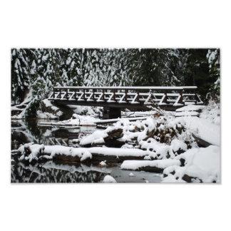Fine Art Print Snow Covered Bridge Photo