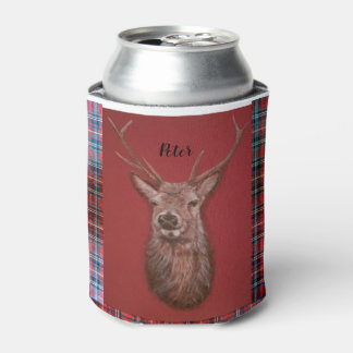 Fine Art red Deer Stag Can Cooler