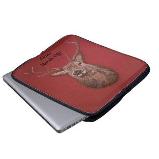 Fine Art red Deer Stag Laptop Sleeve