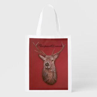 Fine Art red Deer Stag reuseable Bag