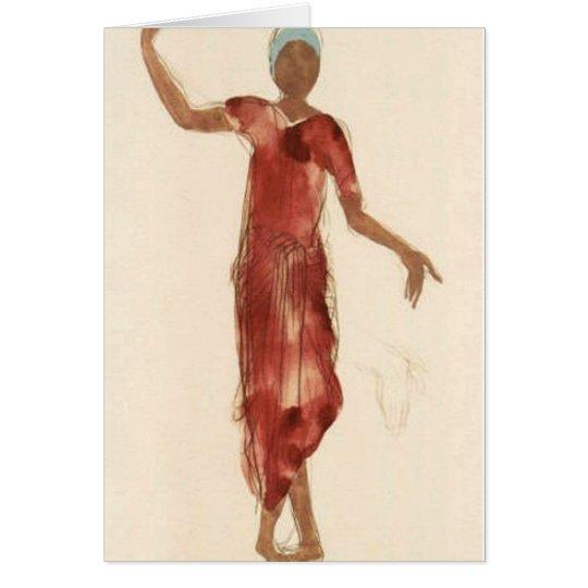 Fine Art ~ Rodin's Cambodia Dancer c1906 Card