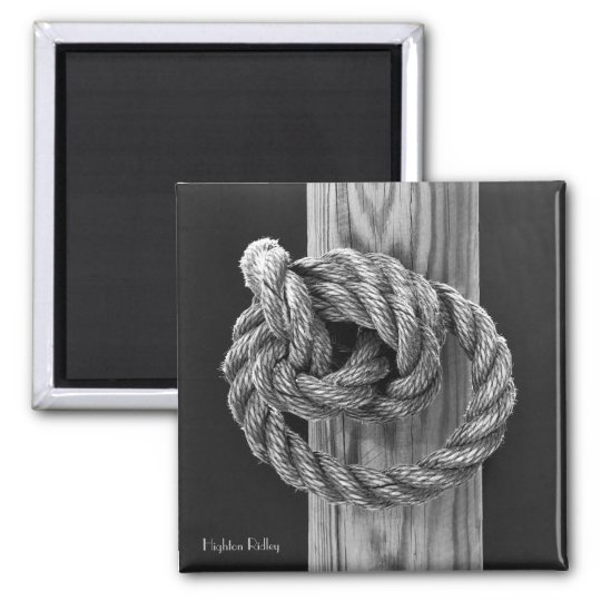 Fine Art, Rope Knot Square Magnet