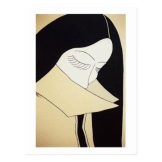 """Fine Art - """"Shy & Sultry"""" Postcard"""