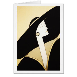 "Fine Art - ""Sophisticated Lady"" Greeting Card"