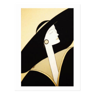 "Fine Art - ""Sophisticated Lady"" Postcard"