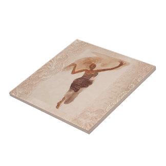 Fine Art ~ The Dancer c1906 Small Square Tile