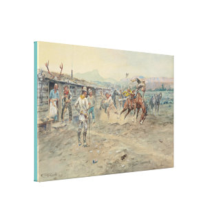 Fine Art The Tender Foot by Charles Marion Russell Canvas Print