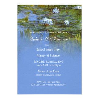 Fine art vintage waterlily graduation card