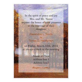 Fine art wedding invitations, Autumn Landscape 14 Cm X 19 Cm Invitation Card