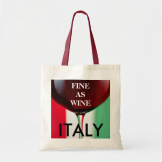 Fine As Wine Italy Flag Grocery Tote Budget Tote Bag