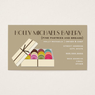 Fine Bakery Business Card - One Dozen Macarons