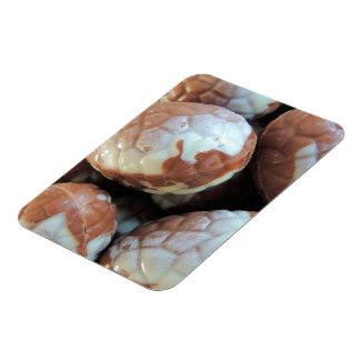 Fine Belgian chocolate Easter eggs photo Rectangular Photo Magnet
