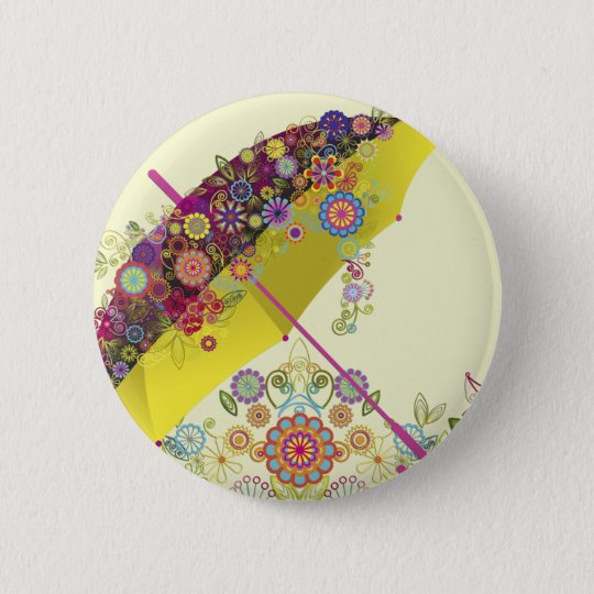 Fine Cool Cute Girly Retro Floral Fashion 6 Cm Round Badge