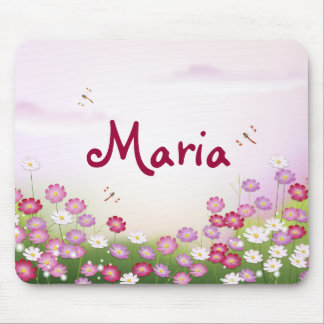 Fine Cool Cute Girly Retro Floral Fashion Mouse Pad