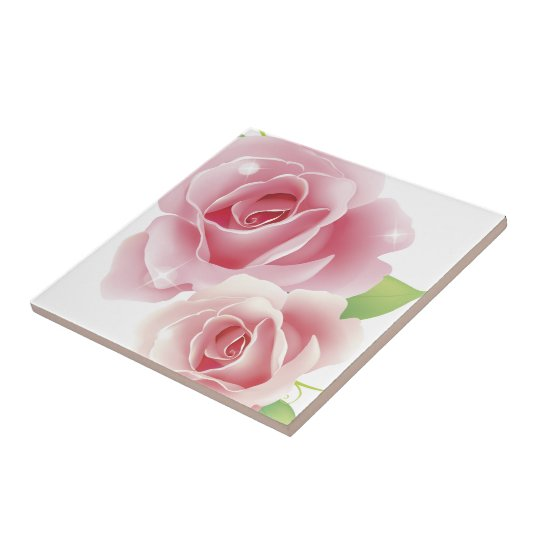 Fine Cool Flowers Cute Girly Retro Floral Tile
