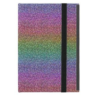 Fine Faux Glitter Sparkles Shiny Rainbow Case For iPad Mini