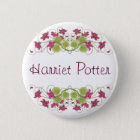 Fine Flower Cool Cute Girly Retro Floral 6 Cm Round Badge