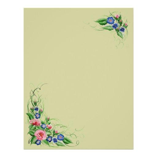 Fine flowers flyer design
