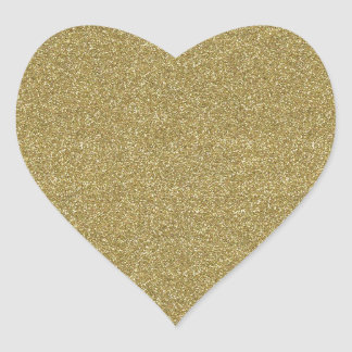 Fine Golden Decor Heart Sticker