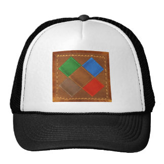 Fine Leather Craft Print Trucker Hats