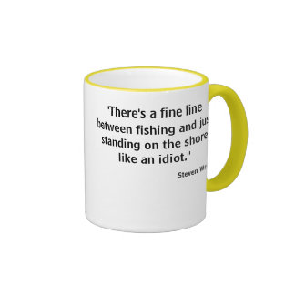 Fine line fishing tee w photo lure back ringer mug