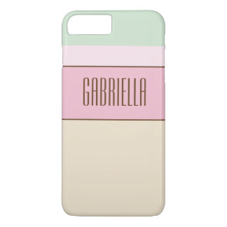 Fine Pastel Colors Custom Monogram iPhone 7 Plus Case