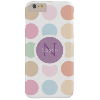 fine pastel colors polka dots barely there iPhone 6 plus case