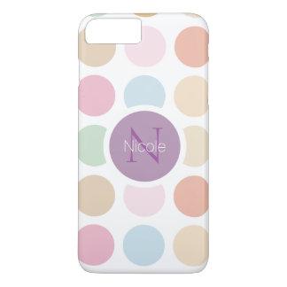 fine pastel colors polka dots iPhone 7 plus case