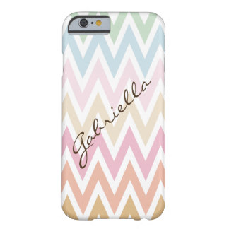 fine pastel colors zig zag barely there iPhone 6 case