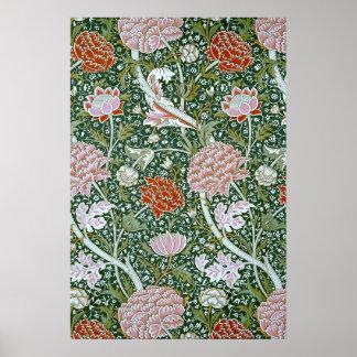 Fine Vintage William Morris Floral Pattern Poster