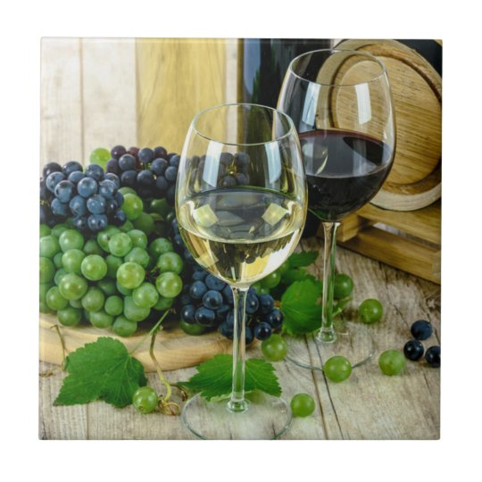 Fine Wine, Aged to Perfection Small Square Tile