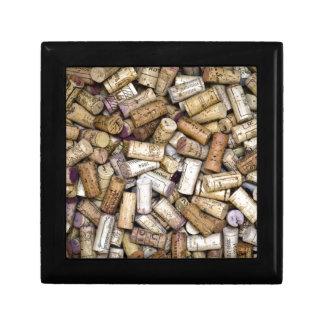 Fine Wine Corks Small Square Gift Box
