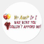 Fine Wine Round Sticker