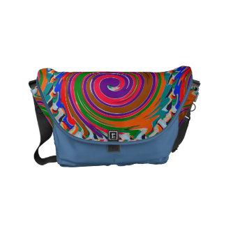 FineArt Abstract Waves Patterns Stripes Messenger Commuter Bag