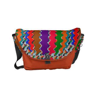 FineArt Abstract Waves Patterns Stripes Messenger Messenger Bag