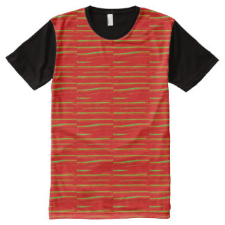 FINEart Graphics colorful orange stripes All-Over Print T-Shirt