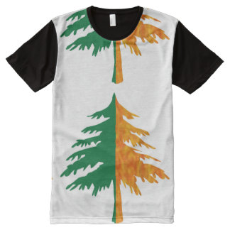 FineArt Graphics Colorful tree cutout All-Over Print T-Shirt