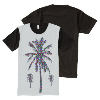 FineArt Graphics trees jungle green beach oasis All-Over Print T-Shirt