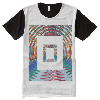 FineArt Graphics Waves Lines Exciting All-Over Print T-Shirt
