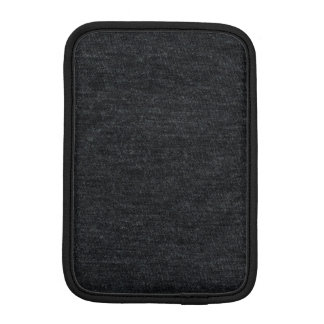 Finely Knit Charcoal Merino Wool Texture iPad Mini Sleeve