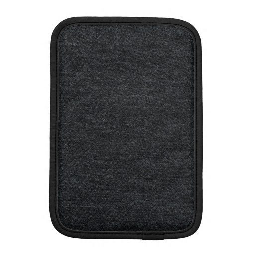 Finely Knit Charcoal Merino Wool Texture iPad Mini Sleeves